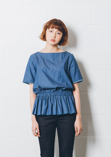 DICOTE) dicote denim blouse - 자체제작 상품 / 30% 할인