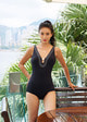Dicote Retro stitch swimsuit_Black